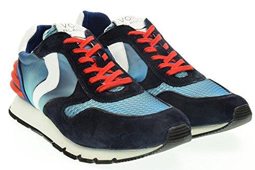 VOILE BLANCHE uomo sneakers basse LIAM POWER blu 43 Blu-Azz-Rosso
