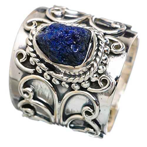 Ana Silver Co Rough Azurite 925 Sterling Silver Ring Size 6.25 RING770037 (Azurite Ring compare prices)
