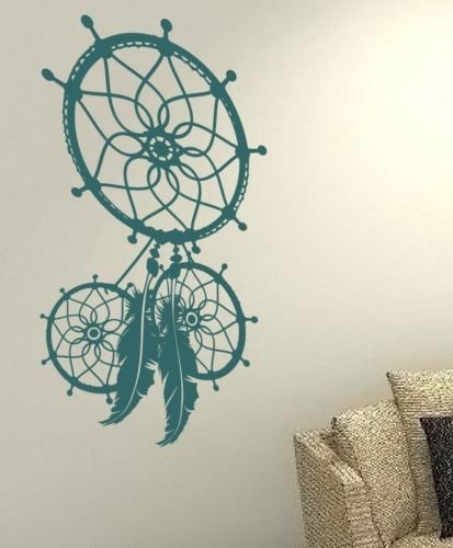 Attrape-rves-indien-plume-Dream-Catcher-Lucky-Symbole-Famille-Maison-Life-Love-Together-Citation-mur-Stickers-Stickers-en-vinyle-DIY-ART-DECOR