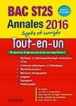Annales 2016 Le Tout-En-Un Term St2S
