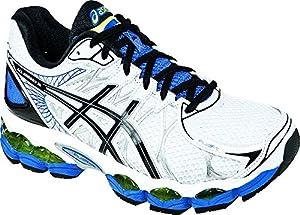 ASICS Men's Gel-Nimbus 16 Running Shoe,White/Black/Royal,13 M US