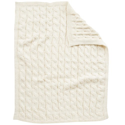 Koala Baby Chunky Cable Knit Blanket - Cream