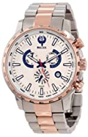 Brillier Men's 16-03 Endurer Rose Gold Chronograph Swiss Quartz Watch from Brillier