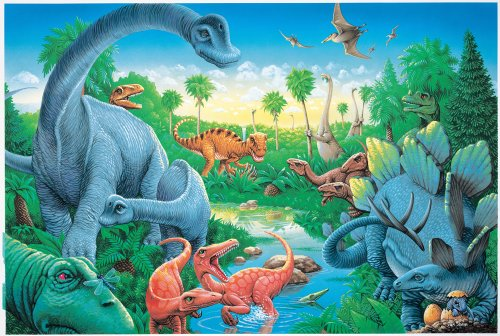Dinosaurs Floor Puzzle: The Jurassic Period