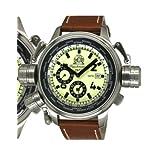 Tauchmeister T0195 XXL Military Worldtimer Watch with Alarm