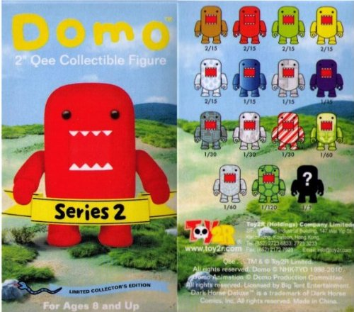 Buy Low Price Toy2R Domo 2″ Mystery Qee Figures Series 2(One Blind Box Sale) (B003C0PLU4)