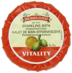 Dresdner Vitality Bath Tablets with Grapefruit - Lime, 2.6-Ounces