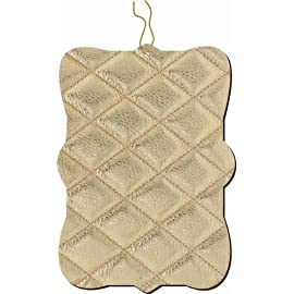 Quilted Beige Leather image Ornament
