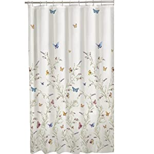 Maytex Garden Flight PEVA Shower Curtain, Multi