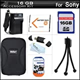 16GB Accessories Kit For Sony Cyber-Shot DSC-W530 DSC-W690 Digital Camera Includes 16GB High Speed SD Memory Card + Extended Replacement (1100 maH) NP-BN1 Battery + AC/DC Travel Charger + USB 2.0 Card Reader + Case + Mini Tripod + Screen Protectors + More ~ ButterflyPhoto