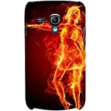 For Samsung Galaxy S3 Mini I8190 :: Samsung I8190 Galaxy S III Mini :: Samsung I8190N Galaxy S III Mini Fire Girl ( Burning Girl, Girl, Fire Girl, Fire, Cute Girl, Nice Girl ) Printed Designer Back Case Cover By FashionCops