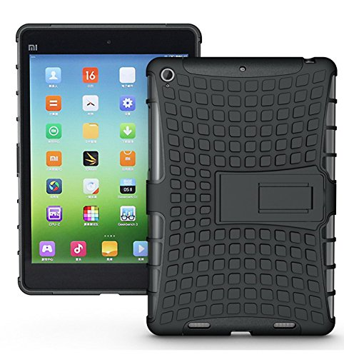 HIGAR Dual Layer Touch Protector Hard Back Case Cover For Xiaomi Mi Pad MiPad 7.9 Tablet- BLACK Color