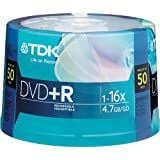 TDK 16X DVD+R 50 Pack Spindle ~ TDK