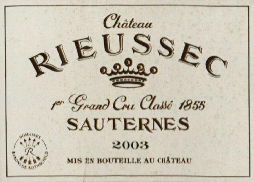 2003 Château Rieussec Bordeaux White Blend Premier Cru Classé Sauternes 375 Ml