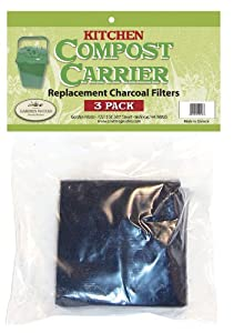 Garden Works Carbon Filter Replacement packs, 3 filters per Pack (Discontinued by Manufacturer)