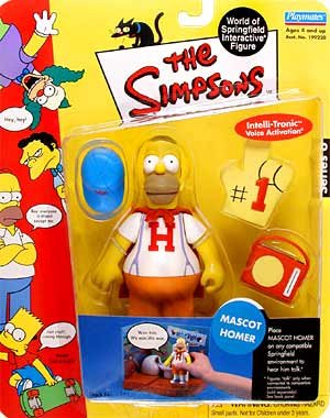 The Simpsons Series 6 Playmates Action Figure Mascot Homer