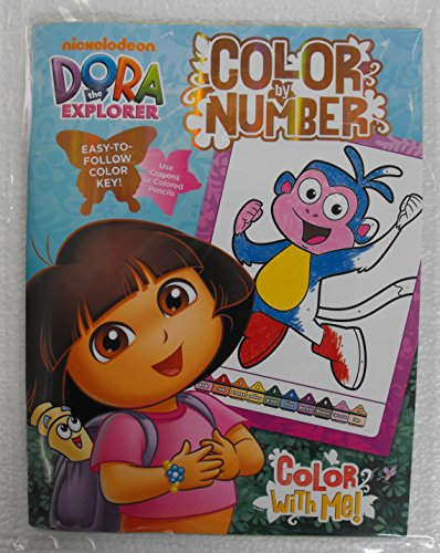 Nickelodeon Dora The Explorer Color By Number Coloring Book.