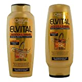 L'OREAL ELVIVE (ELVITAL) NOURISH & SHIMMER HIGHLIGHTS SHAMPOO & CONDITIONER 250ml SET