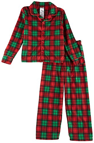 Candlesticks Boys 2pc Plaid Pajama Set 4/5 Red