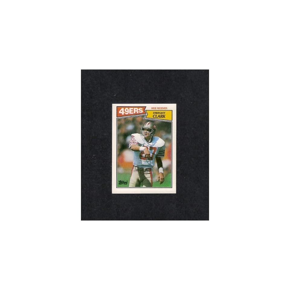 Dwight Clark 1987 Topps Football #116 (San Francisco 49ers) Sports Collectibles