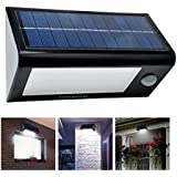 Cozypony® 400 Lumens 32 LED Solar Powered PIR Motion Sensor Light by Cozypony Rechargeable Waterproof Outdoor Solar Wall/Porch/Pathway/Garden/Street Light (Screwdriver Included)