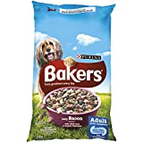 Bakers Complete Tender Meaty Chunks with Tasty Bacon Flavour Dog Food 14 kg