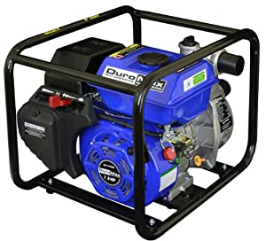 DuroMax XP652WP 2-Inch Intake 7 HP OHV 4-Cycle 158-Gallon-Per-Minute Gas-Powered Portable Water Pump