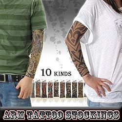 【アームストッキング】メンズ レディース グッズ Tattoo アームストッキング タトゥー 刺青「001-001」【ARM STOCKINGS】◆ F D