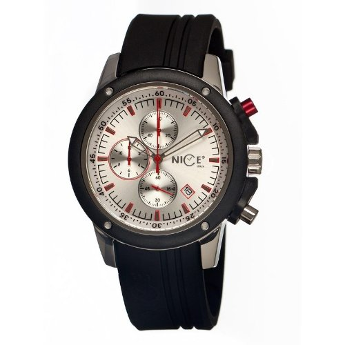 Nice Italy Enzo Chrono Mens Watch (Silver Dial)