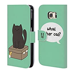 Head Case Designs What Other Cat Ceiling Cat Vs Basement Cat Leather Book Wallet Case Cover for Samsung Galaxy S6
