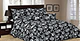 New Luxury 7Pcs Jacquard Quilted Bed Spread / Comforter Set / Double Size Black And White Jacquard AAA Quality 7 Piece Bedding Set Quilted Bedspread Modern 7 Pieces Flock Chenille Jacquard Luxury Comforter Set (Double, Black 6Pc Jacuard)