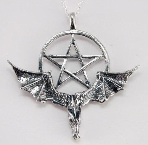 A Spectacular Dragon and Pentacle in Sterling Silver Made in America