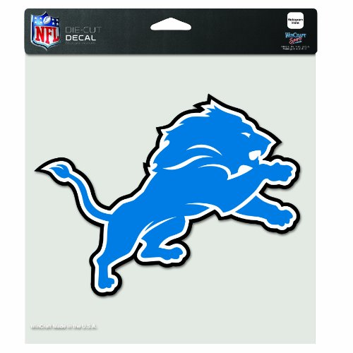 NFL Detroit Lions 8-by-8 Inch Diecut Colored Decal at Amazon.com