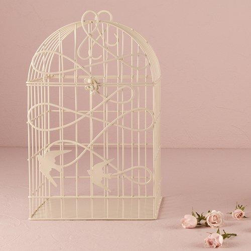 Modern-Decorative-Birdcage-with-Birds-in-Flight-White