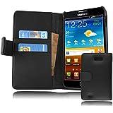 Cadorabo ®! Samsung Galaxy Note N7000 and I9220 Funda De Piel con un práctico cierre magnético diseño: Book Style in negra
