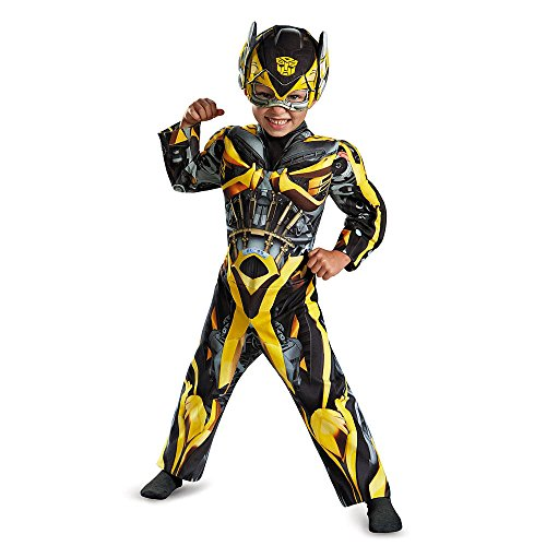Boys Bumblebee Muscle Halloween Costume Soft Weapon Size 2T