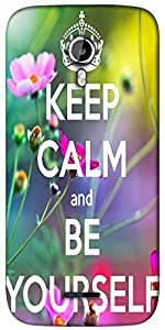 Snoogg Keep Calm and Be Yourself Designer Protective Back Case Cover For Micromax A117