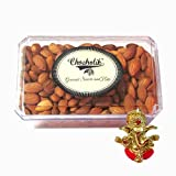Chocholik Amazing Fancy Gift Box Of Almonds, 500gm With Ganesha Idol - Chocholik Dry Fruits