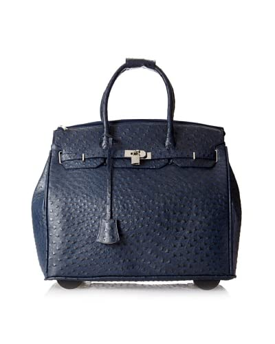 KC Jagger Women's Kendall Rolling Bag, Navy Ostrich As You See