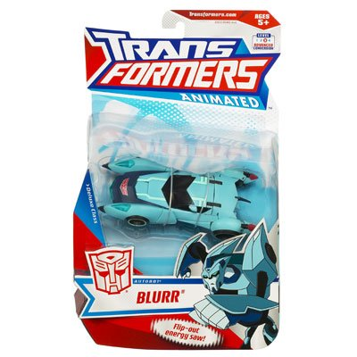 Transformers - Animated - Deluxe Class - Level 3 - AUTOBOT - BLURR - Elite Recon mit Flip-out Energy Saw - OVP