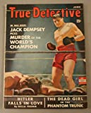 June 1942 True Detective Magazine Jack Dempsey Cover Very Good Condition