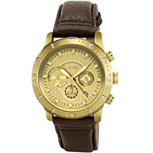 JBW Men's J6259LA Cruiser Chronograph Brushed Gold-Plated Watch