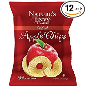 Amazon - Pack of 12 Nature's Envy Apple Chips Original - $27.57