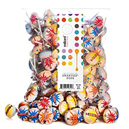 Smarties Pops Individually Wrapped 2 Pound Bulk Bag