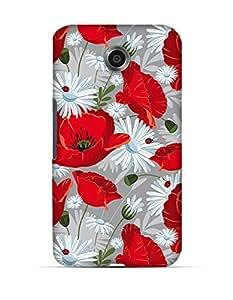 GetASkin Red White Floral back case for Nexus 6