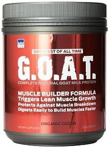 MMUSA Goat Protein Muscle Builder Diet Supplement Powder, Organic Cocoa, 500 Gram