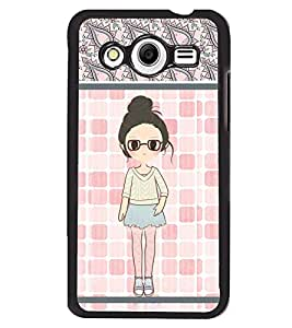 Fuson 2D Printed Girly Designer back case cover for Samsung Galaxy Core 2 - D4420