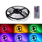 Lighting EVER® Flexible 5050 RGB LED Strip Light,Color Changing,16.4ft/5m,Non-Waterproof,Multicolor,Remote Controller and Power Adaptor Included