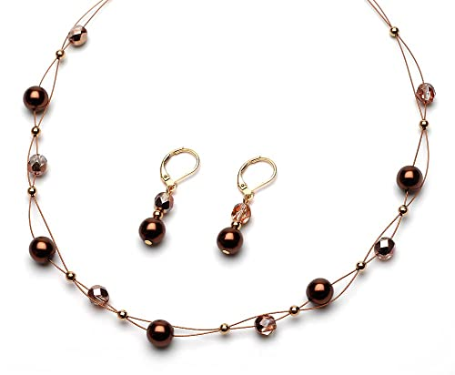 Gold Tone Jewelry Sets Set Brown Gold-tone