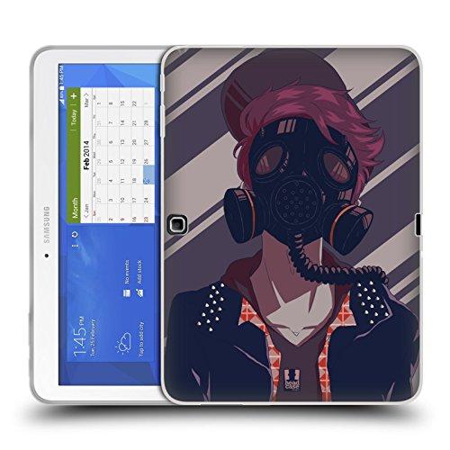 Head Case Designs Punk Maschere Antigas Fashion Cover Morbida In Gel Per Samsung Galaxy Tab 4 10.1
